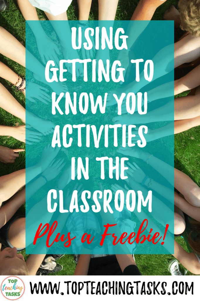 Using Getting To Know You Activities. A huge part of the Back to School season is ensuring that your students feel comfortable and connected in their new classroom environment. This blog post provides tips will help you to use Getting to Know You activities to build a positive and inclusive classroom culture from day one. Also receive a free getting to know you activities pack. #BacktoSchool #GettingToKnowYou