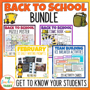 ack to School Activities Bundle