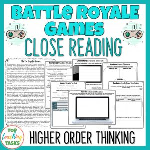Battle Royale Games Reading Comprehension Passages and Questions