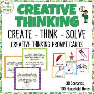 Creative Thinking Activities and Problem Solving Cards 4