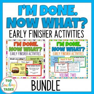Early Finishers Activities Bundle