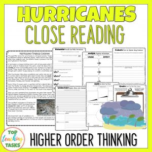 Hurricanes and Tropical Cyclones Reading Comprehension
