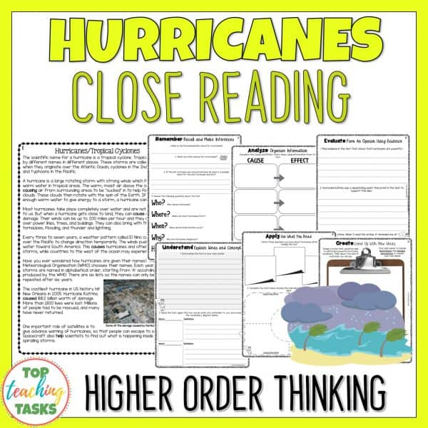 Hurricanes Reading Comprehension Passage and Questions