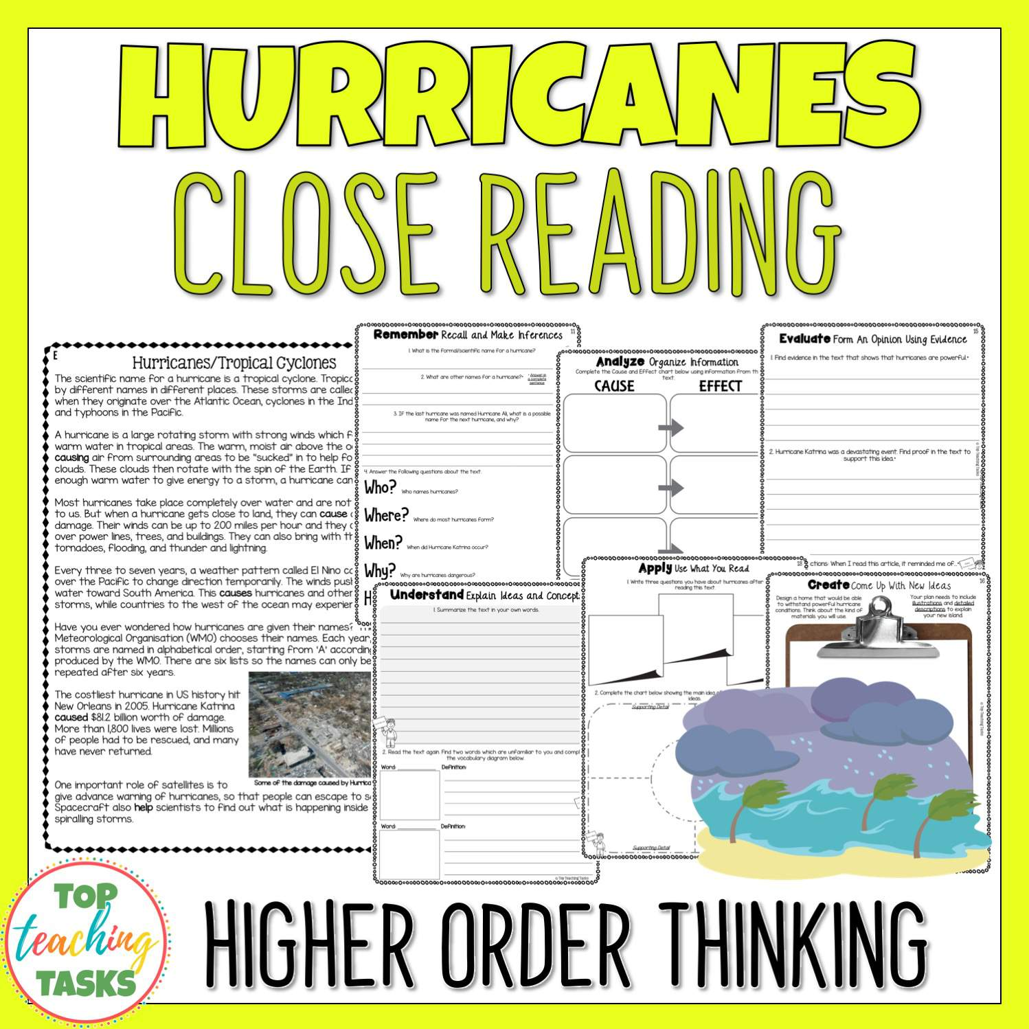 Natural Disasters Reading Prehension Passages And
