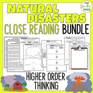 Natural Disasters Reading Comprehension