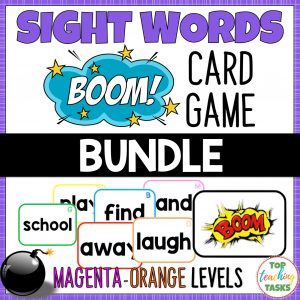 Sight Words Boom Card Games