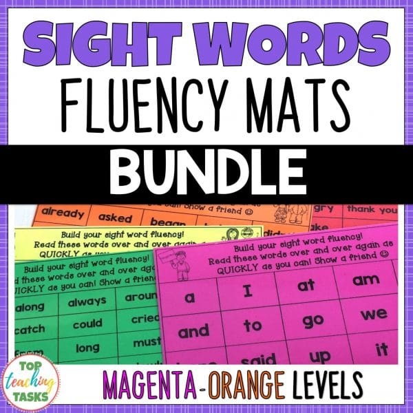 Sight Words Fluency Mats