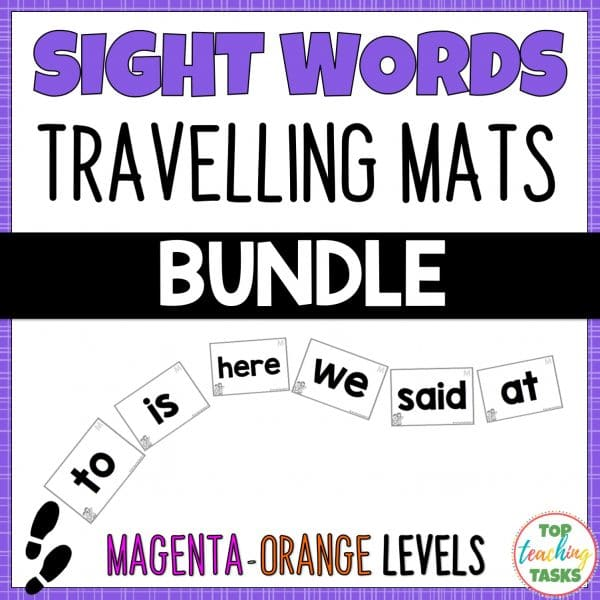 Sight Words Travelling Mats