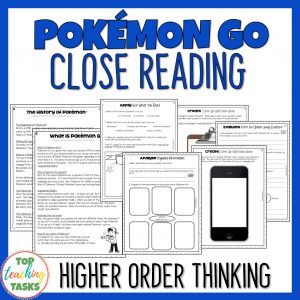 Pokemon Go Reading Comprehension Passages and Questions