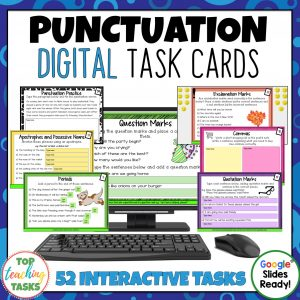 Punctuation Digital Task Cards