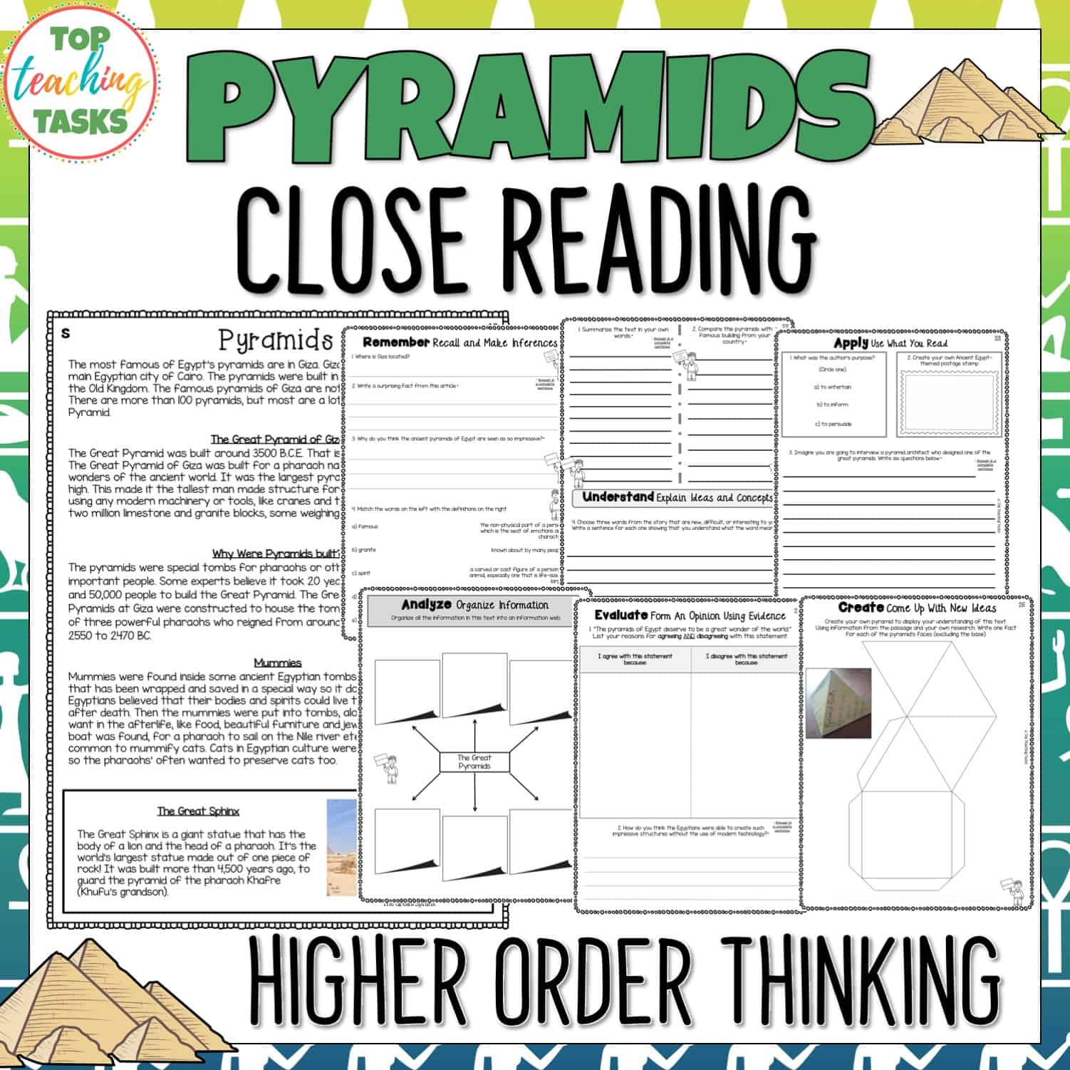 Pyramids Reading Prehension Passages And Questions