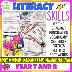 Literacy Skills Activities Year 7-8