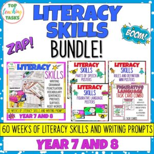 Year 7-8 Literacy Skills Bundle