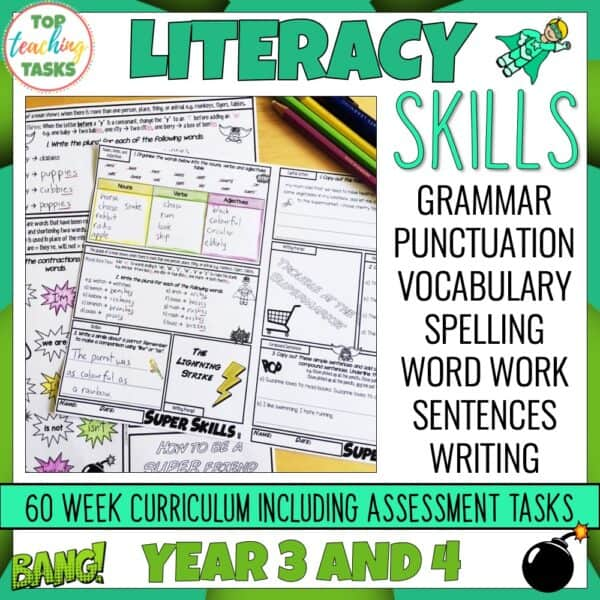 Literacy Skills Activities Year 3-4