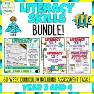 Year 3-4 Literacy Skills Bundle