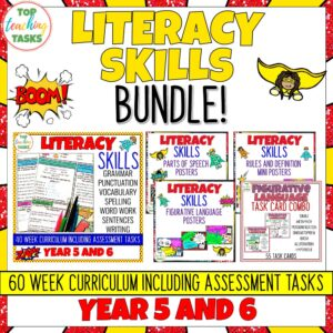 Yea 5-6 Literacy Skills Bundle