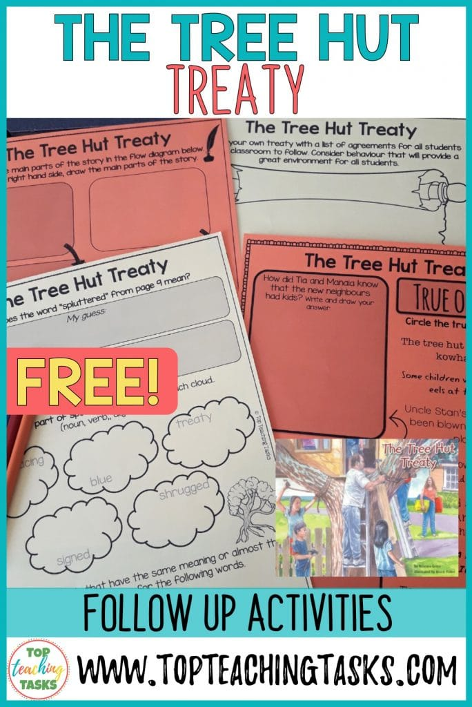 Tree Hut Treaty Follow Up activities. We have created some great FREE activity sheets to help you use this wonderful book in your classroom to teach the principals of a treaty. This is a great book to use when focusing on the Treaty of Waitangi, Waitangi Day, or New Zealand History. Your students will enjoy this effective freebie. Teach the treaty with confidence.