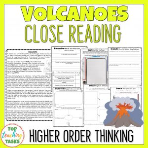 Volcanoes Reading Comprehension