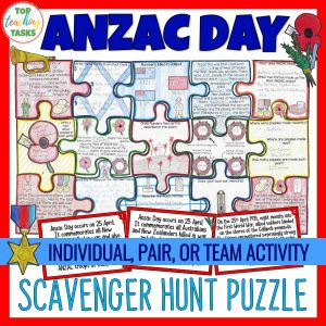 Anzac Day Scavenger Hunt Puzzle