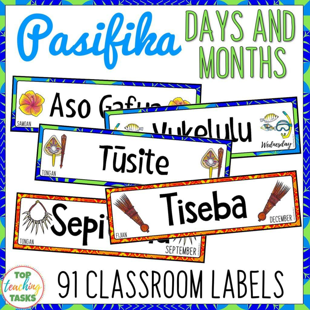 Pasifika Classroom Display Labels | Pacific Islands