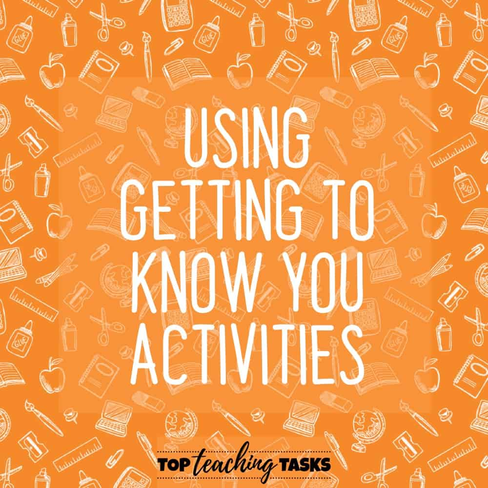 Using Getting To know you activities. A huge part of the Back to School season is ensuring that your students feel comfortable and connected in their new classroom environment. These tips will help you to useGetting to Know You activities to build a positive and inclusive classroom culture from day one