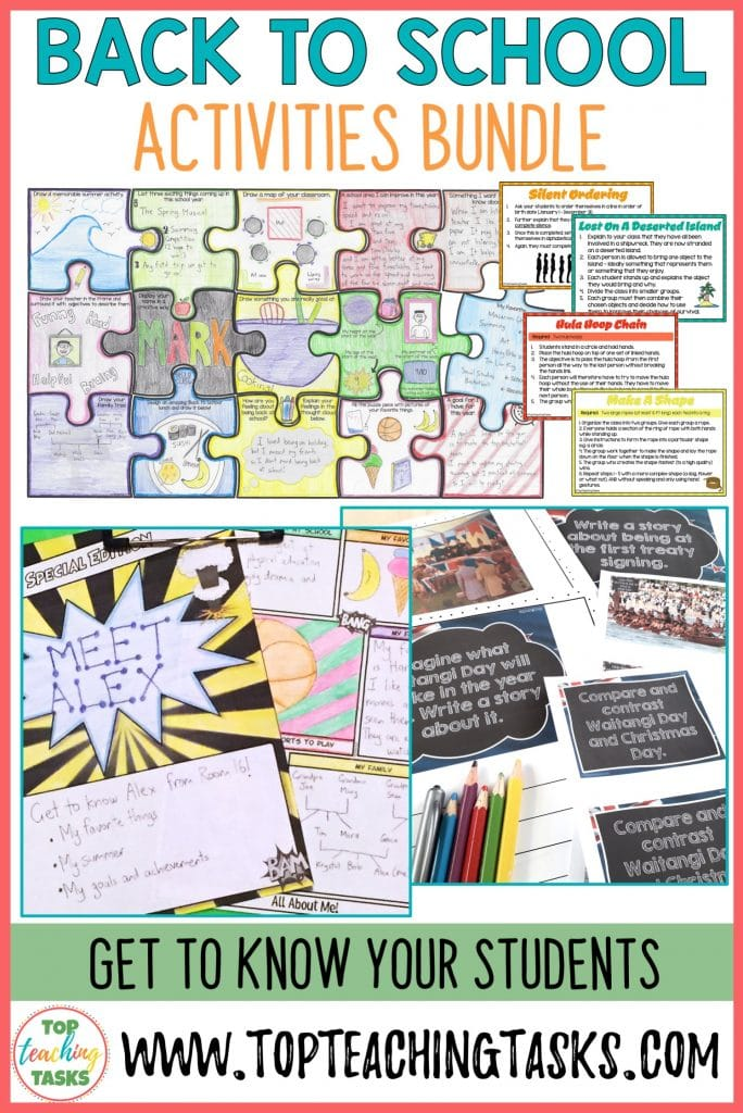 Back to School Activities. Your upper primary students are going to love this B2S activity pack. Let students get to know one another better with these introduction activities. Your Year 4, Year 5 or Year 6 class will love these dynamic, engaging resources. It has all about me, goals & achievements, best friends, summer memories, and more included. Start with a meaningful, fun activity on the first day of school!