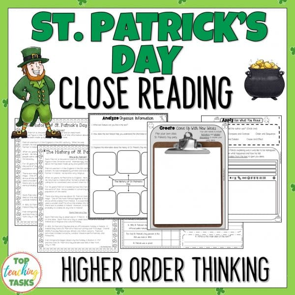 St Patricks Day Reading Comprehension