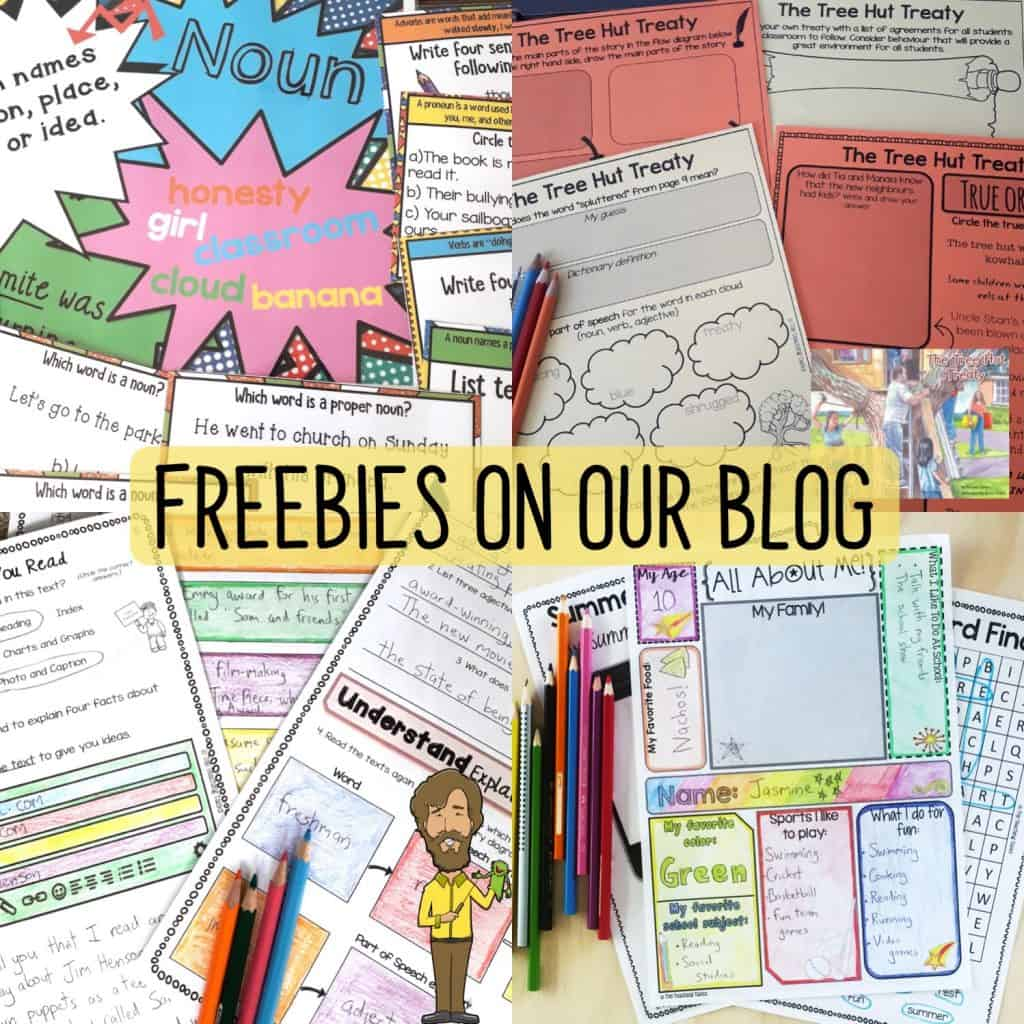 Instructional Resources for Teachers - Freebies