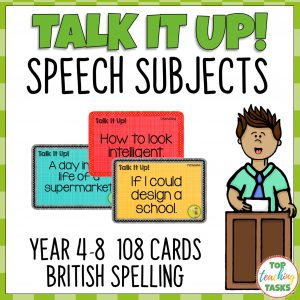 Speech Topic Cards