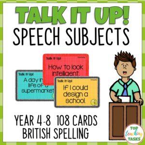 Speech Topic Cards