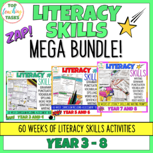 Year 3-8 Literacy Skills Bundle