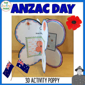 Anzac Day 3D Poppy