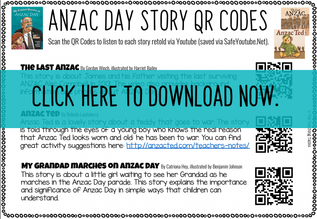 Anzac Day Story QR Codes