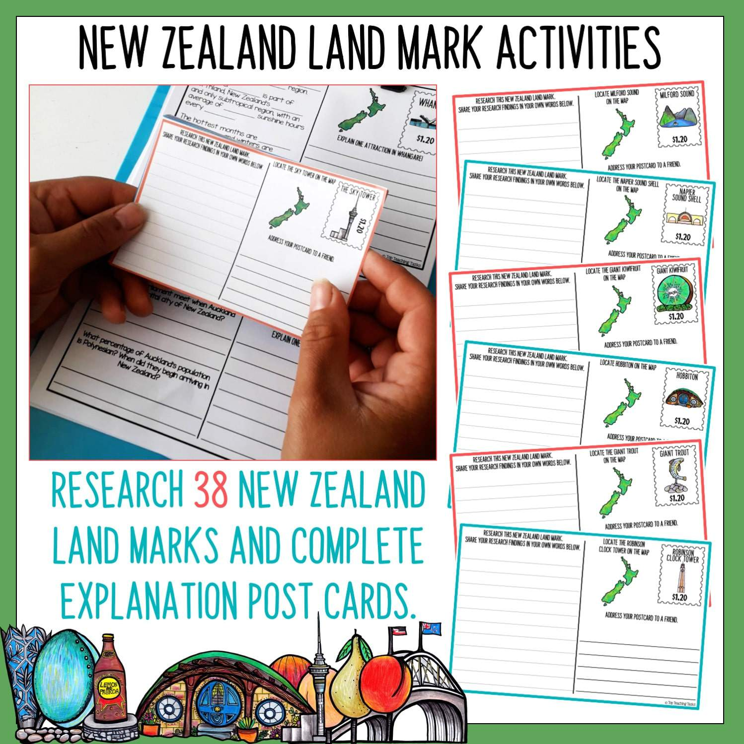 New Zealand Geography And Kiwiana Culture Unit Top Teaching Tasks