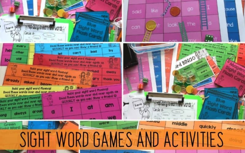 Sight Word Games and Activities