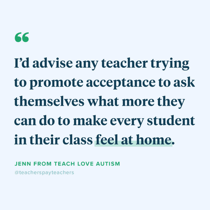 A quote from Teachers Pay Teachers: