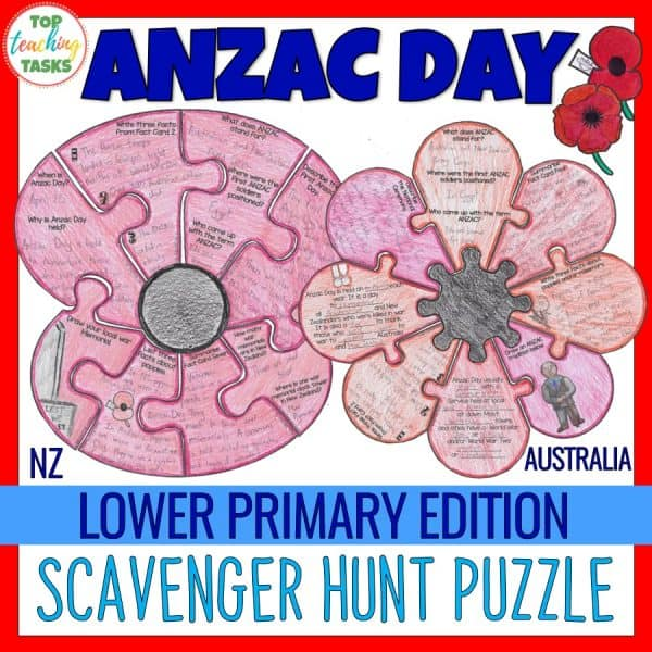 Anzac Day Puzzle Lower Primary