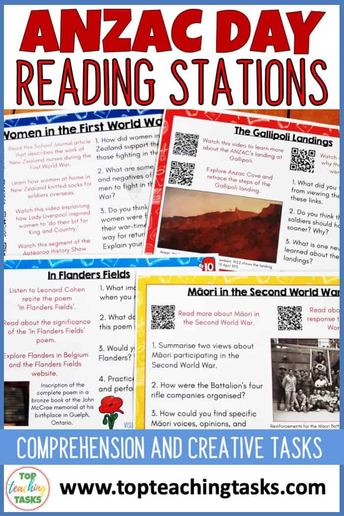 Anzac Day stations. Our Anzac Day Reading Stations are an engaging and interactive way for your learners to explore more about Anzac Day. Explore what Anzac Day is, the Gallipoli campaign, Anzac Day and Poppies, and Māori in the First and Second World Wars.