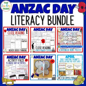 Anzac day activities bundle