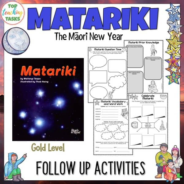 Matariki Gold Level Reading Activities
