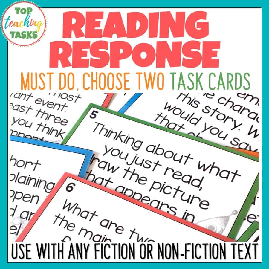 Reading Response Task Cards For Fiction And Non-Fiction