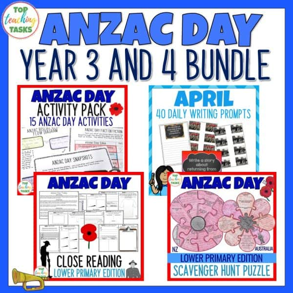 Year 3 and 4 Anzac Day Bundle