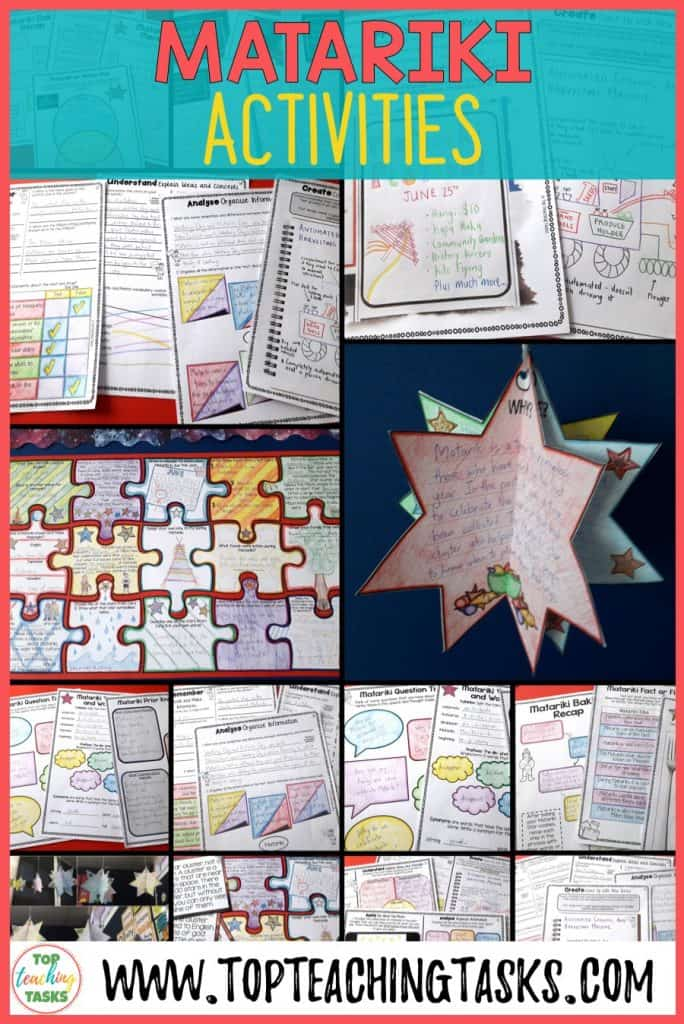 Let us save you time this Matariki and June with our New Zealand Matariki BUNDLE: Matariki literacy resources featuring Reading, Writing, and other activities! Perfect for the NZ (New Zealand) classroom and your guided reading program! Features Matariki activities for kids.