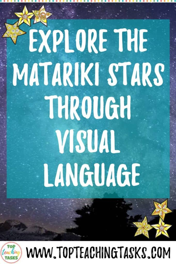 Matariki, the Māori New Year, has many symbols that explain its significance. I've put together this blog post to explain how to explore the Matariki stars through visual language. Read on to see a step by step process of how the Matariki stars can be used as a great context for exploring symbols and symbolism with your students.
