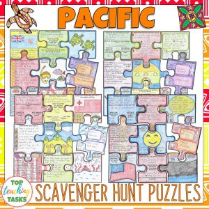 Pacific Islands Scavenger Hunt Puzzle