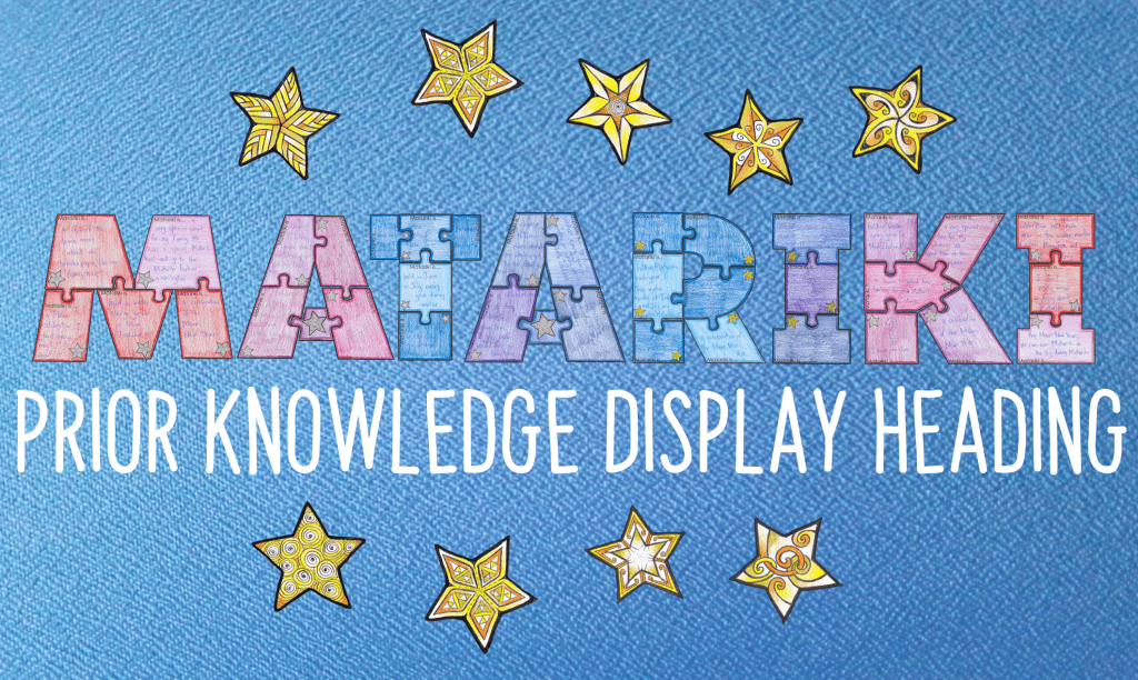 FREE Prior Knowledge Matariki display heading resource. Most teachers will be creating some kind of display to highlight the learning journey of your students'. I think this unique puzzle, spelling out the word MATARIKI through 35 puzzle pieces, is pretty special!