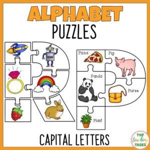 Alphabet puzzles capital letters