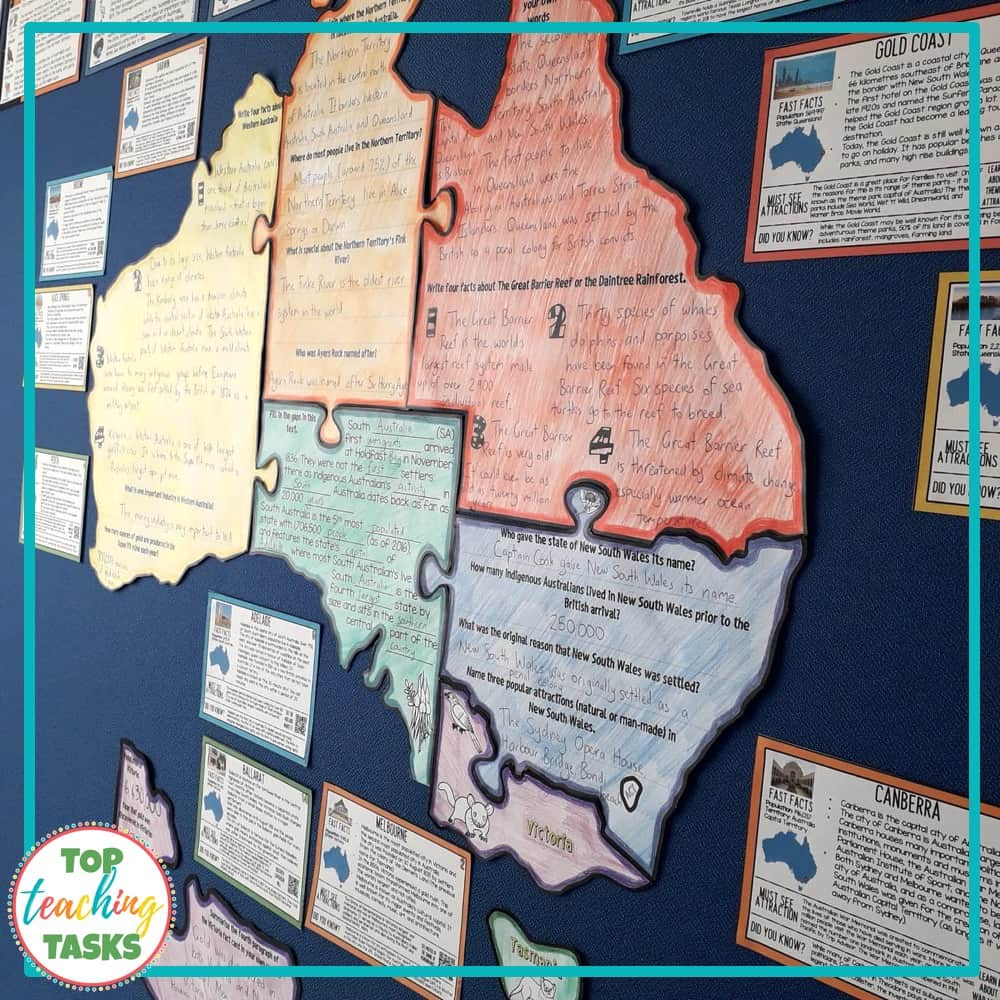 Australia Map Landmarks.Explore Australian Geography And Landmarks Top Teaching Tasks