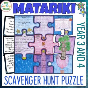 Matariki Scavenger Hunt Puzzle Year 3 and 4