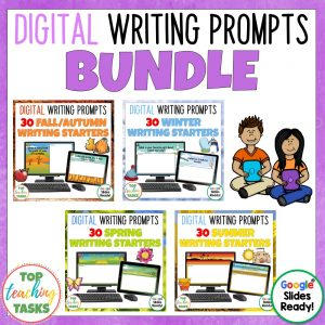 Daily Writing Prompts Seasons Bundle